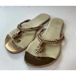 Mossimo Braided Thong Leather Flip Flops